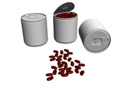 Canned Kidney Beans 3d model