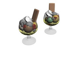 Ice Cream Dessert 3d model