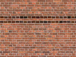 Background of red brick wall texture