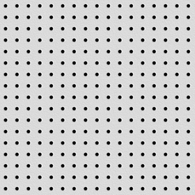 Perforated plastic texture