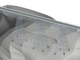 High level bridge 3d model