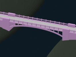Arch stone bridge 3d preview