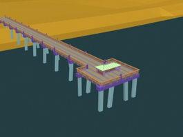 Beach Pier 3d model