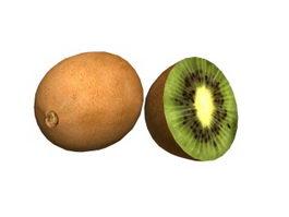 Wild kiwi fruits 3d model
