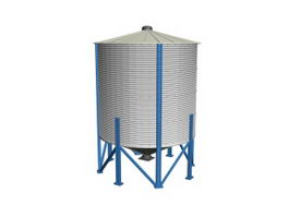 Industrial storage silo 3d model
