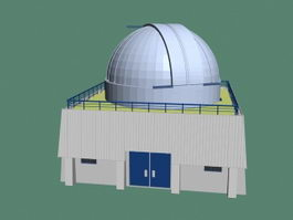Astronomical observatory 3d model