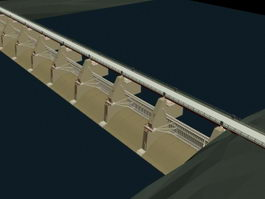 Dam Bridge 3d model