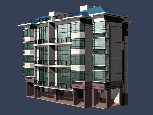 Multi Storey Residential Buildings Free 3d Models Available In 3ds, No  Textures Included. This 3d Objects Can Be Used For Residential Building  Design, ...