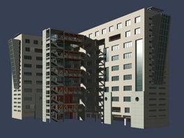 Student classroom building 3d model