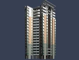 High-rise residential house 3d model