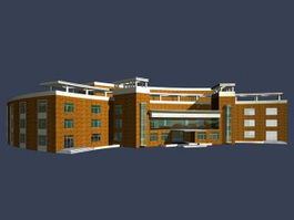 Library building 3d preview