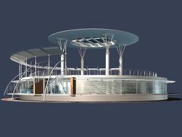 Tech plaza building 3d model