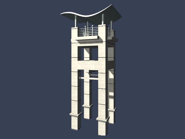 Modern Clock Tower 3d Model 3dsmax Files Free Download