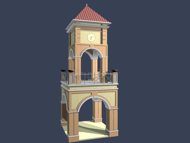 Church Bell Tower 3d Model 3dsmax Files Free Download