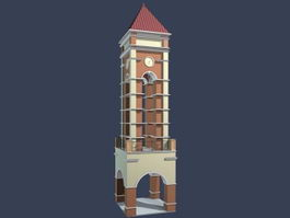 3D Clock Tower 3d model