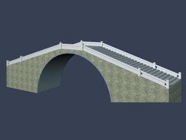 Stone arch bridge 3d model
