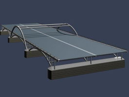 Steel structure footbridge 3d model