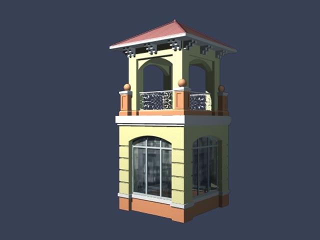 Entrance Guard Room 3d Model 3dsmax Files Free Download
