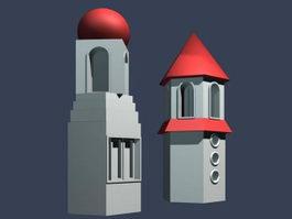 Amusement park entrance 3d model