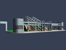 Entrance of the theatre 3d model