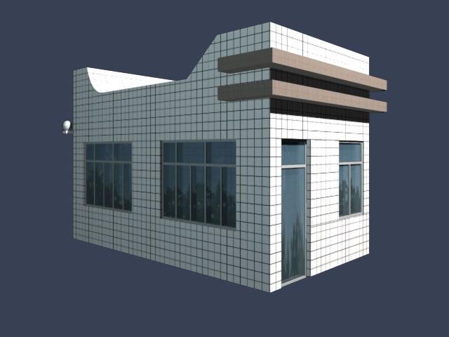 Classroom Design Models ~ Gate house of entrance d model dsmax files free download