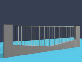 Protective fence 3d model