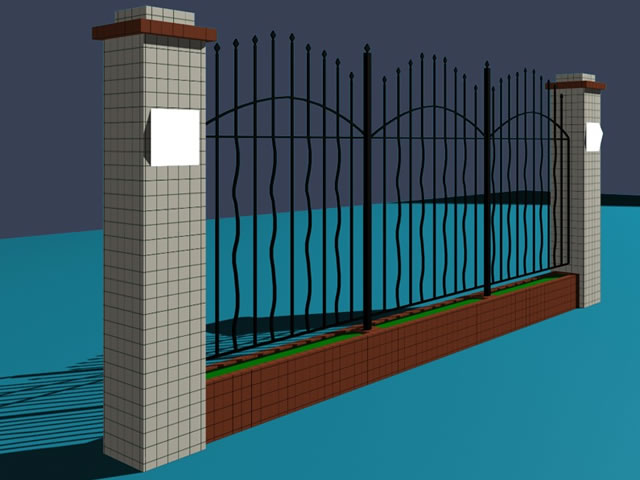 Park Iron Fence 3d Model 3dsmax Files Free Download