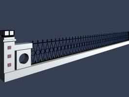 Flower bed fence 3d model