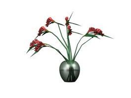 Indoor hydroponics flower 3d model