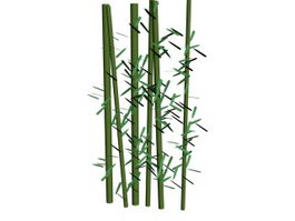 Bamboo pole 3d model
