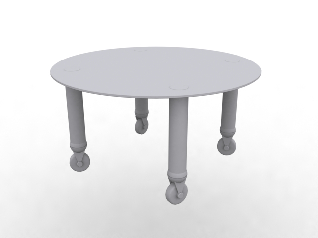 Round Tea Table With Wheels 3d Model 3dsmax Files Free