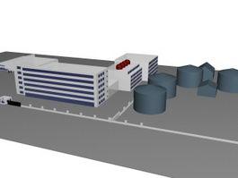 Industrial workshop 3d model