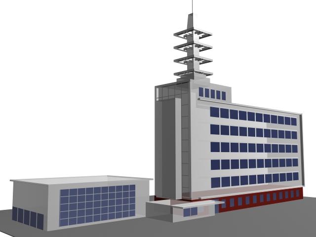 Enterprise office building 3d model