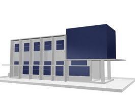 Business office building 3d model