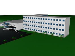 Building and landscape 3d model