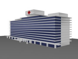 Outpatient service building 3d model