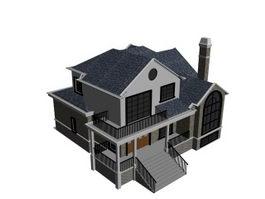 Detached dwelling house 3d model