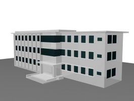 School library building 3d model
