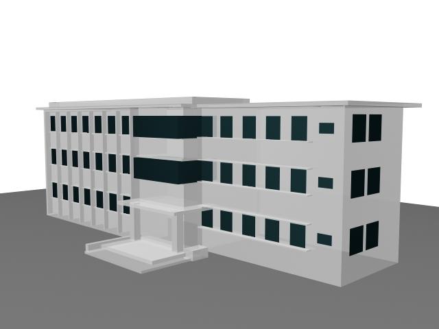 school library building 3d model - 3d Building Design Free
