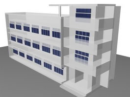 School classroom building 3d model