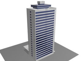 High-rise office towers 3d model