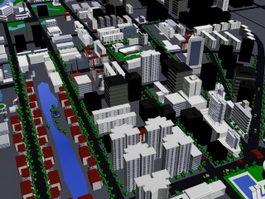 Urban residence zone 3d model