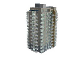 Multi floor housing 3d model