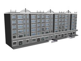 Multilayer residential architectural 3d model