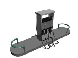 Cabinet fuel dispenser 3d model