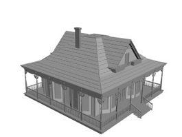 Residential villa 3d model