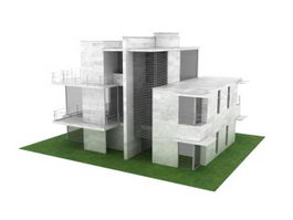 Villa residence 3d model