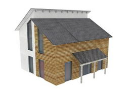 Rural residential building 3d model