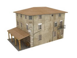 Old residential building 3d model