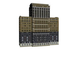 Business living building 3d model